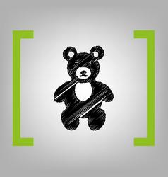 teddy bear sign   black vector image