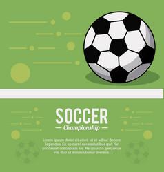 Soccer sport ball championship image vector