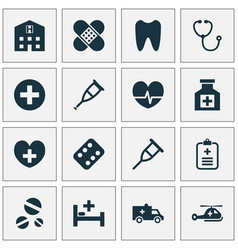 Antibiotic icons set collection of tent retreat vector