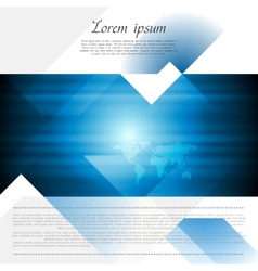 Hi-tech corporate flyer design vector