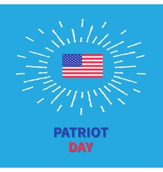 Flag shining effect hpatriot day blue background vector