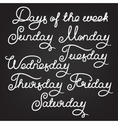 Handwritten days of the week vector
