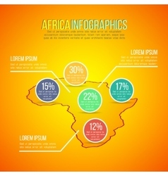 Africa map infographics design in vector