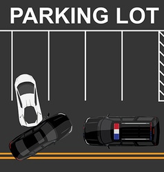 Car accident top view vector