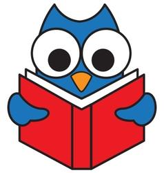 Read Owl vector image