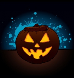 pumpkin lantern vector image