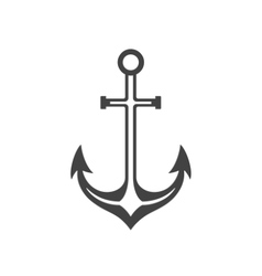 Anchor isolated on white background icon in vector