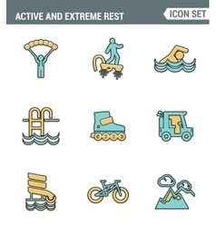 Icons line set premium quality of active and vector