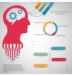 Abstract creative concept head siluet with vector image