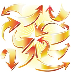 arrow vector image vector image