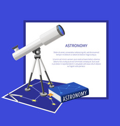 astronomy banner with frame place for text vector image