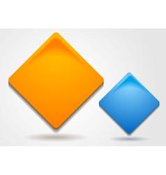 Bright squares design vector image vector image