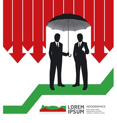 Businessman in umbrella creative finance safe vector