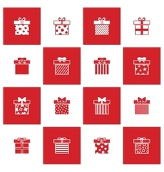 Christmas gift boxes icons set vector