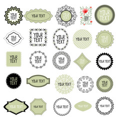 decorative labels set vector image vector image
