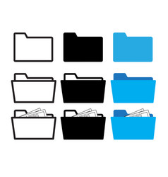 folder icon vector image vector image