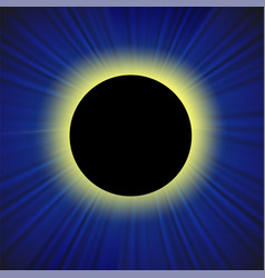 Full solar eclipse vector