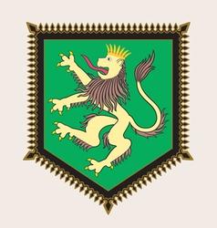 Heraldic lion crest vector