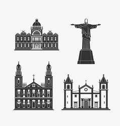 Historic monument architecture of brazilian vector