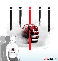 Lifelines vector image