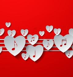Love Music Concept Design vector image