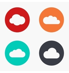 modern cloud colorful icons set vector image vector image