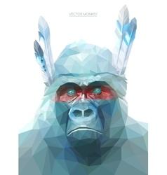 Monkey polygonal eps 10 vector image vector image