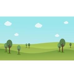 Nature landscape background flat vector