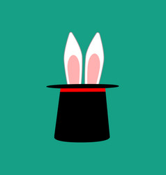 Rabbit ears in magic hat vector