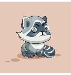Raccoon cub squints vector