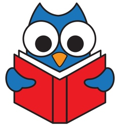 Read Owl vector image