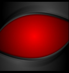 Red and black wavy background vector image vector image