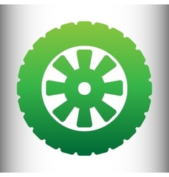 Road tire icon vector
