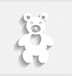 Teddy bear sign white icon vector