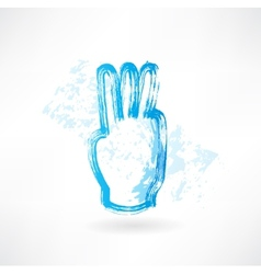 three fingers grunge icon vector image vector image