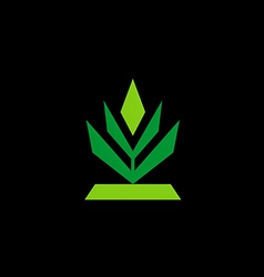 tree abstract shape logo vector image vector image