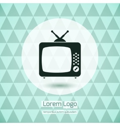 Tv icon logo vector
