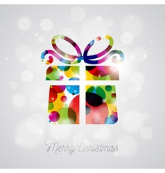 Merry christmas holiday with abstract gift box vector