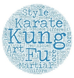 The difference between karate and kung fu text vector