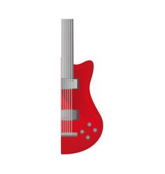 colorful silhouette with half electric guitar vector image