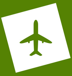 Airplane sign   white icon vector