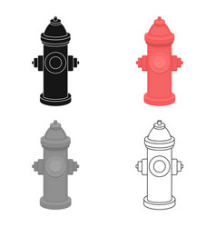 Hydrant icon in cartoon style for web vector
