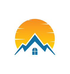 House sunset logo image vector