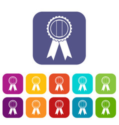 rosette icons set flat vector image