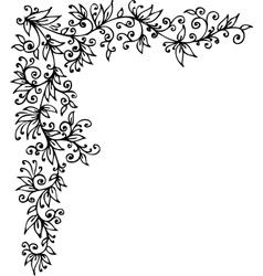 Floral vignette cccli vector