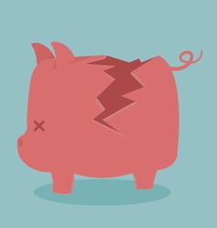 Cracking piggy bank vector
