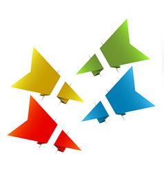 Paper origami arrows vector