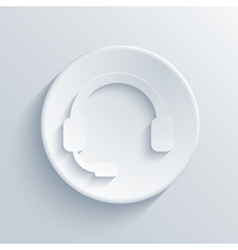 Modern headphones light circle icon vector