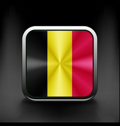 Belgium waving flag national travel icon country vector