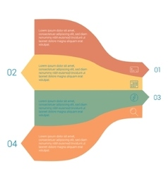 Set of infographic template layouts flow chart vector